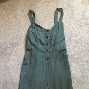 NWT super cute olive green jumpsuit **never worn**